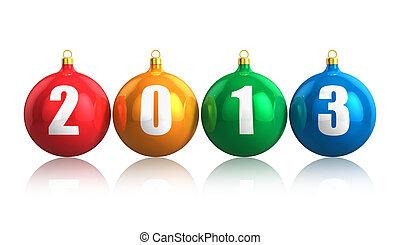 nouveau, année, 2013, concept