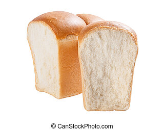 Pull down bread - Fresh wheat pull down bread isolated on...