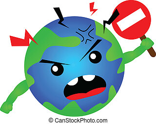 stop global warming - illustration of stop global warming