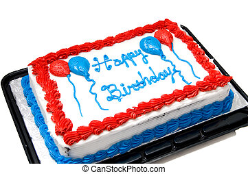 Birthday Cake - A cake for the celebration of an annual...