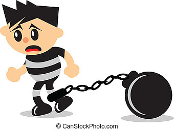 prisoner - illustration of prisoner