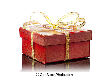 Red gift box - Red Gift Box on a white background