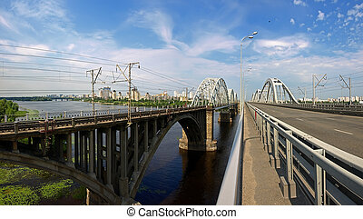Bridges over the Dnieper River