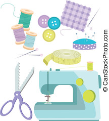 Sewing Items - Various sewing items including sewing...