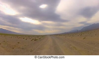 Vehicle point-of-view desert racing