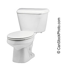 toilet bowl on white background