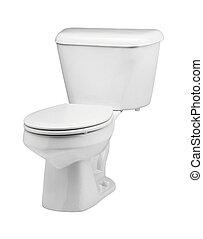 toilet bowl on white background