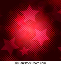 abstract red background with striped stars
