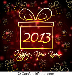 Happy New Year 2013 in present box