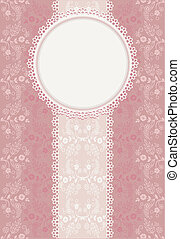 Invitation pink background