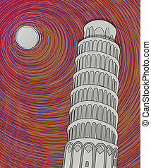 Pisa tower sketch