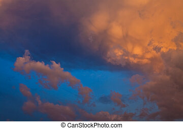 Clouds in the evening sky 5