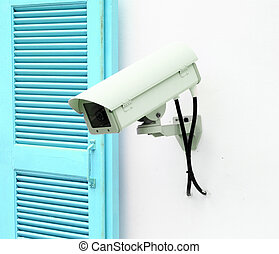 CCTV with window on wall