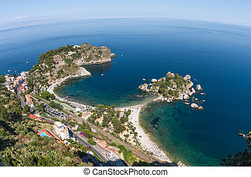 Isola bella, a small island near Taormina, Sicily