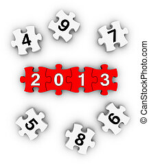 Happy New Year 2013 puzzles