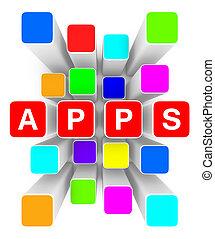 cloud of apps