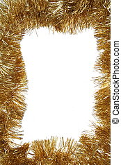 Golden Christmas frame with copy space