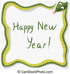 vector new year snake - vector happy new year background...