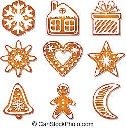 vector gingerbread cookies - vector design of gingerbread...