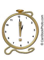 Alphabet Pocket Watch exclamation