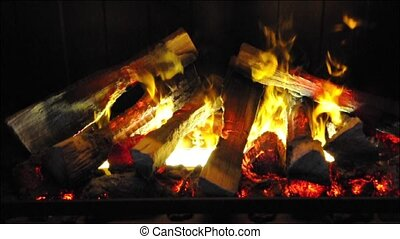 Fire place - steam fire in fire place
