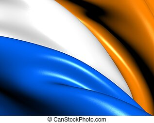 Princes Flag Close Up 3D