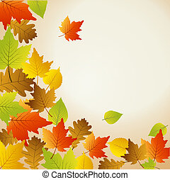 Thanksgiving background - Greeting Card for Autumn and...
