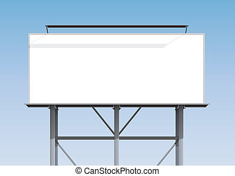 Billboard blank - Illustration of a blank billboard with the...
