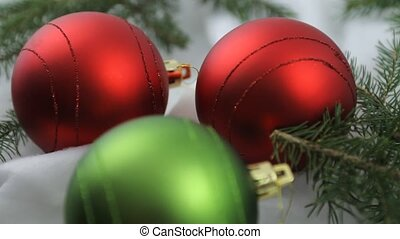 Christmas bulbs and cookies
