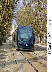Tramway - Modern cable car in Bordeaux