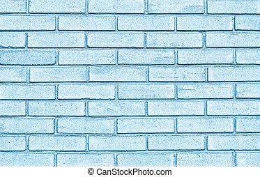 青, 壁, れんが