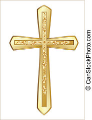 Christian Cross isolated on the white background