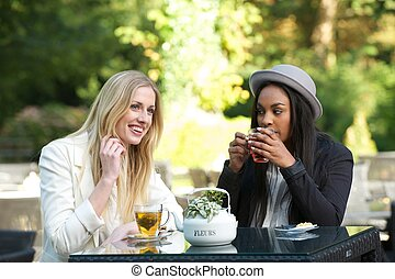 Multicultural Friends Drinking Tea
