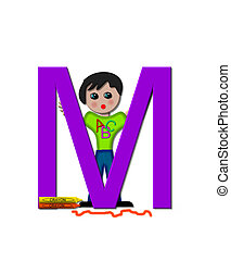 "School Zone M - The letter M, in the alphabet set ""School..."
