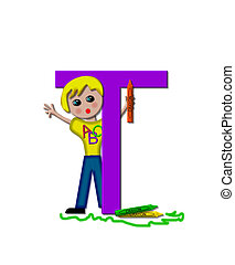 "School Zone T - The letter T, in the alphabet set ""School..."