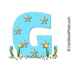 Alphabet Spring Explodes G - Alphabet letter G, in the set...