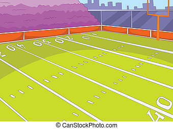 American Football Stadium Cartoon Background Vector...