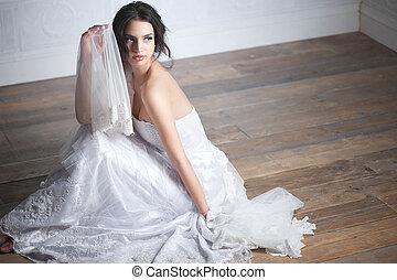 Portrait of a Beautiful Bride in Dress