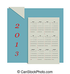 Calendar 2013 vector format - original calendar of 2013 on a...