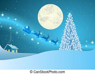 Christmas Tree Of Stars At Winter