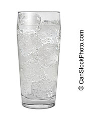 Club Soda Water Isolated with clipping path on a white...