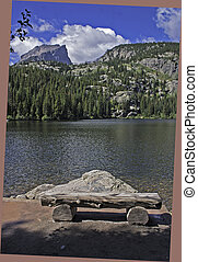 Bear Lake in rocky Mountain National Park Colorado