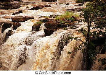 Zambezi river at Victoria Falls(Zambia) - The Zambezi river...