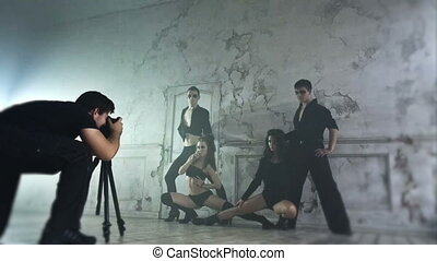 Backstage of photo shooting Fast motion effect