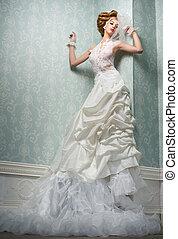 Alluring Bride - Tall, sexy and alluring caucasian bride in...