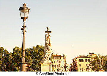 Statues on the Ponte Sant Angelo - Statues on the Ponte Sant...