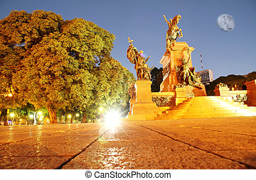 Night shot of San Martin, Buenos Aires - Night shot of the...