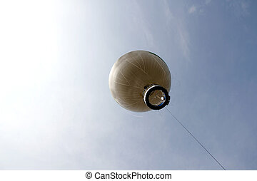 Captive Balloon - A Captive Ballon rising towards the sky