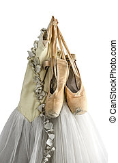 Tutu and ballet shoes - Hanging tutu and ballet shoes...