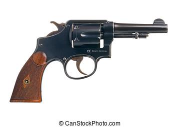 clásico, norteamericano, revólver